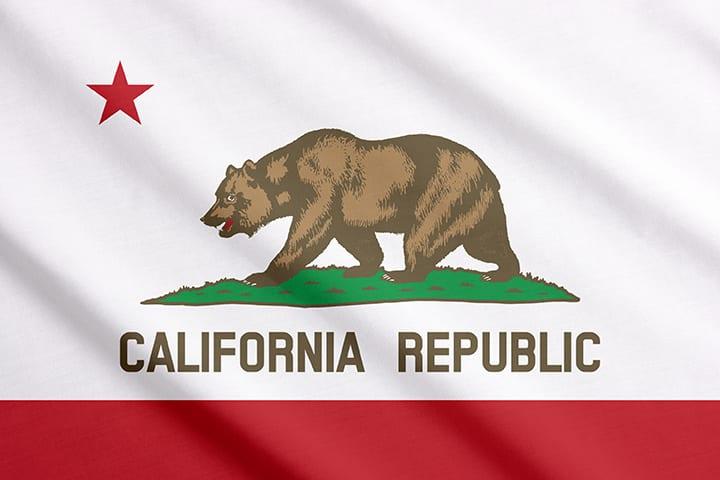 California flag waving.