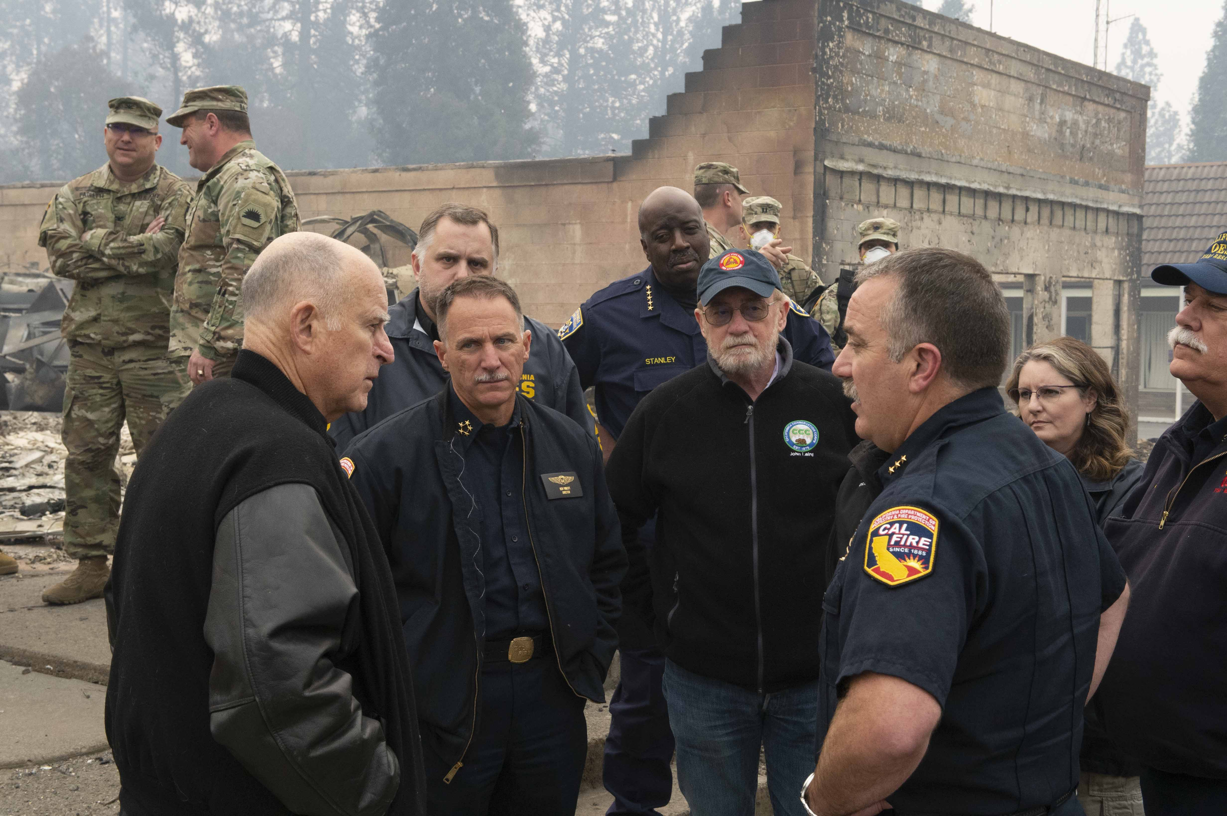 Governor Brown Surveys Wildfire Impacts and Meets with Emergency Officials in Butte County, Issues Order to Streamline Wildfire Cleanup and Recovery