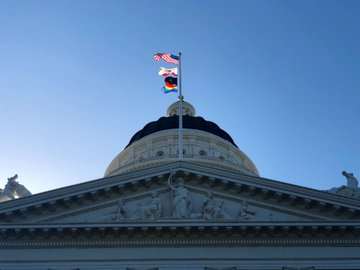 Governor Newsom Celebrates LGBTQ Pride Month by Flying Rainbow Flag Over the State Capitol for First Time Ever