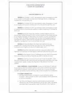 This is page 1 of the executive order.