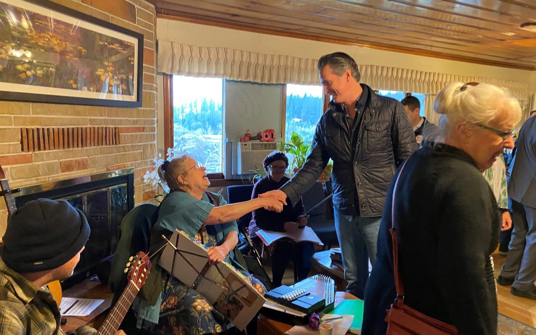In Nevada County, Governor Newsom Kicks Off Weeklong Tour Meeting with Individuals Receiving Homeless Services