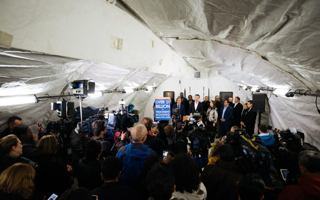 Photo Release: In Oakland, Governor Newsom Concludes Statewide Homelessness Tour by Previewing State's Accelerated Emergency Actions