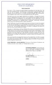 This is a copy of the Governor's proclamation.
