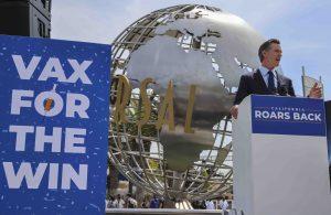 Governor Newsom speaks at Universal Studios