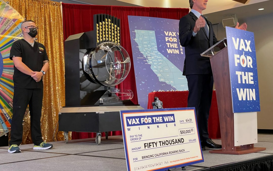 Governor Newsom Draws First 15 Winners in California's Vax for the Win Giveaway