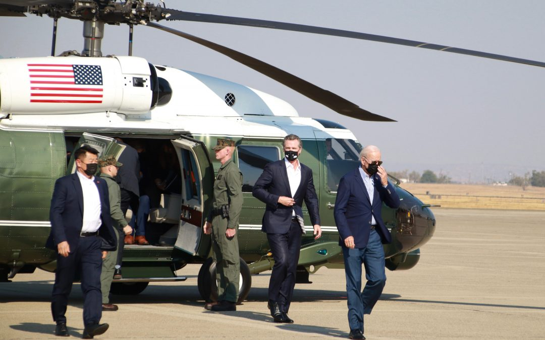 Governor Newsom Welcomes President Biden to California for Wildfire Briefing and Caldor Fire Damage Survey